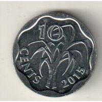 Свазиленд 10 цент 2015