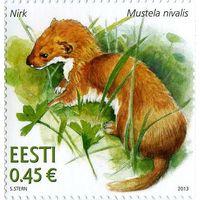 Эстония 2013 г.  Эстонская фауна. Ласка .
