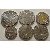 Боливия. набор 6 монет 10 20 50 сентаво , 1 2 5 боливиано 2012-2017 год