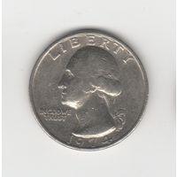 25 центов (квотер) США 1974  б/б Лот 2932