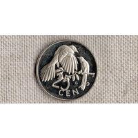 Виргинские острова 25 центов 1973 /фауна//(GB)/