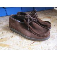 Туфли замшевые на шнурках, р.37. Не ношены