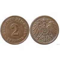 YS: Германия, Рейх, 2 пфеннига 1911A, KM# 16 (2)