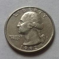 25 центов, США 1992 P