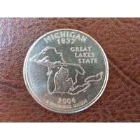 1/4 доллара 2004 США ( Квотер штата Мичиган ) P