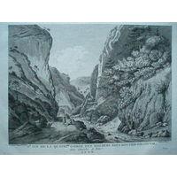 Офорт Вид на долину в горах. 1780-е годы. #5/2