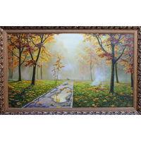 Картина маслом 42      осенний парк 60х100