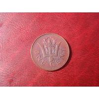 1 цент 1980 год Барбадос