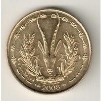 Западная Африка 5 франк 2008