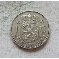 Нидерланды 1 гульден 1956 - серебро