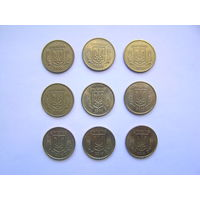 10 копеек Украина 2003, 2004, 2005, 2007, 2008, 2009, 2012, 2013, 2014г.