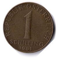 Австрия. 1 шиллинг. 1981 г.