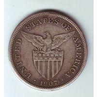 Филиппины ( под США ). 1 песо 1907 г