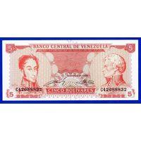Венесуэла, 5 боливаров 1989 год.