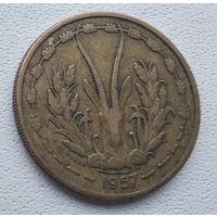 Французская Западная Африка 25 франков, Того 1957 6-6-22