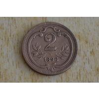 Австрия 2 геллера 1896