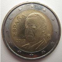 Испания 2 евро 2013 г. Тираж - 3987200 шт. (a)