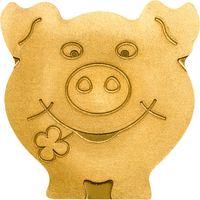 """Палау 1 доллар. """"Свинка на счастье"""".  Монета в капсуле; сертификат. ЗОЛОТО 0,5гр."""