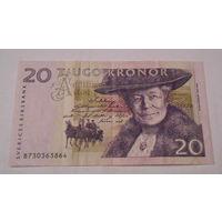 Швеция, 20 крон, 2006 года, VF7