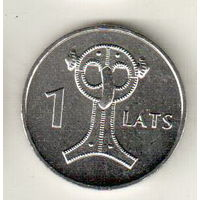 Латвия 1 лат 2007 Сова