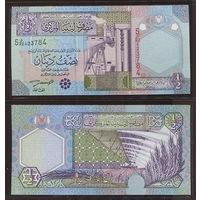 Распродажа коллекции. Ливия. 1/2 динара 2002 года (P-63 - 2002 Issue - Series 5)