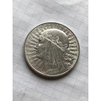10 злотых 1932 со знаком МД