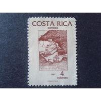 Коста-Рика 1987 карта страны