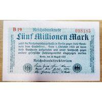 5 000 000 (5 миллионов) марок 1923 года - Германия - UNC