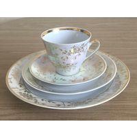 Чашка кофейная с блюдцами Солнечный сад, СССР