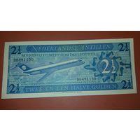Банкнота 2 1/2 гульдена Нидерландские Антилы