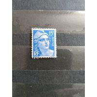 1951 Старенькая Франция чистая без клея без дыр(3-1)