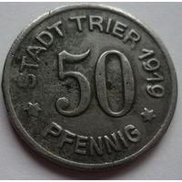 Германия. 50 пфеннигов 1919г.TRIER.