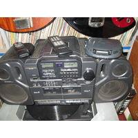 С 1 рубля.Музыкальный центр, магнитола, магнитофон Daewoo ACD4250 с пультом,плеер в подарок.