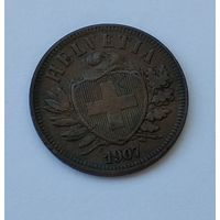 Швейцария 2 раппена, 1907 7-5-46