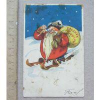 Открытка С Новым Годом  Финляндия 1937 год