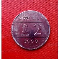 92-12 Индия, 2 рупии 2006 г. (Мумбаи) Единственное предложение монеты данного типа монеты на АУ