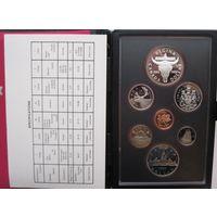 Канада, набор, 1982, серебро, пруф