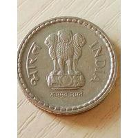 Индия 5 рупий 2002г.