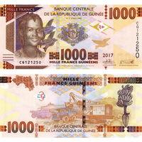 Гвинея 1000 франков образца 2017 года UNC