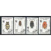 Насекомые Мадагаскар 1988 год серия из 4 марок (М)