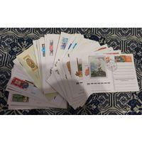 Почтовые карточки СССР чистые 80 штук