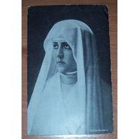 """Старое фото-открытка """"Монашка"""" 1916 г"""