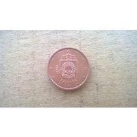 Латвия 1 евроцент, 2014. (U-М)