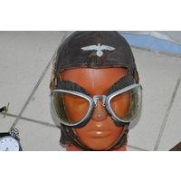 """Оригинальные очки пилотов """"Люфтваффе"""" на родном ремешке. Как защитные очки использовались и в моторизированных дивизиях"""
