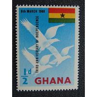 Гана 1963 г. Независимость. Флаг.