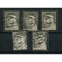 Польша - 1935 - Маршал Пилсудский - [Mi. 294-298] - полная серия - 5 марок. Гашеные.