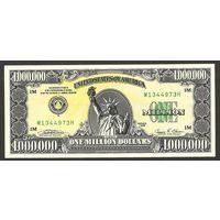 1000000 долларов США 1988 UNC (банкнота, сертификат, холдер)