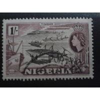 Нигерия 1953 колония Англии стандарт, плоты