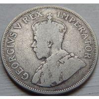 25. Южная африка 2 1/2 шиллинга 1924 год. Георг-5. серебро*