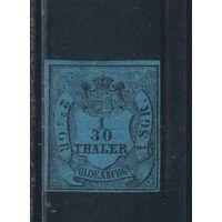 Ольденбург Герцогство Германия 1852 Номинал Стандарт  #2*